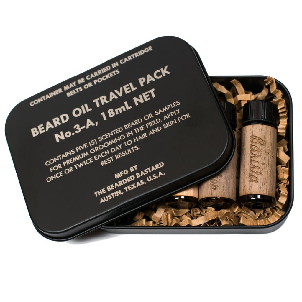 coffret huiles à barbe bearded bastard